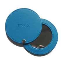 2014 New Design Square/Round Pu Leather/Metal Cosmetic Mirror
