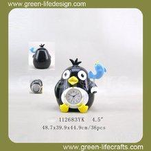 Wholesale home decor penguin alarm clock