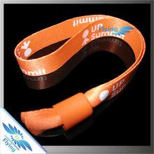 fancy wedding favor RFID fabric bangle wristband(wrist band) with lock