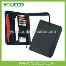 600D Polyester Fashion Folder Zipper Portfolio Case