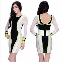 Hot dress! long sleeve open back online prom dress shopping