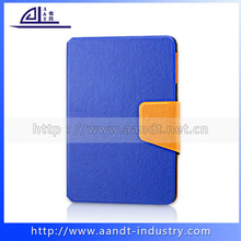 Foldable wallet flip leather case for ipad mini