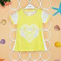 estados unidos bebé niñas de moda de verano elegante cisne en blusas de encaje