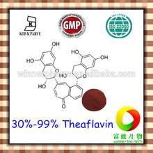 Natural food coloring Black tea extract powder / 30%-99% Theaflavin
