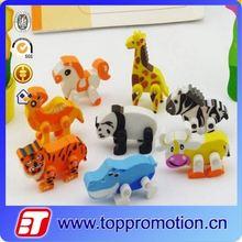 fashion custom animal shape eraser
