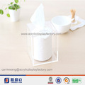 2014 più popolari cilindro forma di carta tovagliolo acrilico/scatola del tessuto