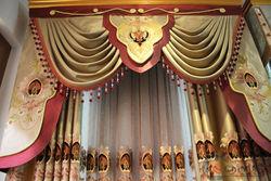 China luxury european style window curtains elegant living room curtain