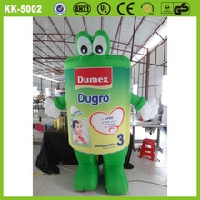 New design beautiful good quality green advertising inflatable model walking