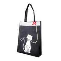 printed animal picture non woven foldable bag
