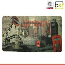 """London""different designs/logo printable rubber back fancy carpet"