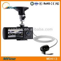 dual lens car dvr camera video recorder gps,g-sensor car cam dvr