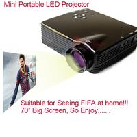 High Quality Mini Projector Clock Digital Video Projectors Multimedia Player Home Theater With HDMI AV/VGA/SD/USB