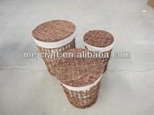 Hot selling decorative straw wholesale laundry basket