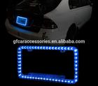 Blue Color LED Lighting Car License Plate Acrylic Plastic Frame