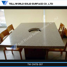 Easy to install long-lasting solid surface tables and chairs