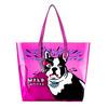 2014 wholesale funky waterproof cartoon pvc tote beach bag ,with a smaller bag in it