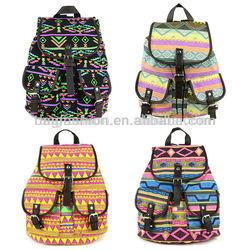 Korea cute ladies canvas backpacks for school fashion backpack 2014