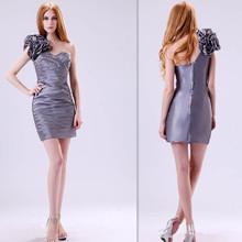 one shoulder short taffeta cocktail dresses