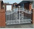 Jardín de metal puertas modelos/puertas de hierro forjado puerta del jardín