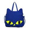 2014 wholesale fashionable cotton and linen cat shape cartoon cute tote beach bag