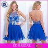C1414 China Supplier Halter Neckline Backless Royal Blue Cocktail Dresses 2014