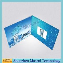Hochwertige 2,4-zoll-lcd-bildschirm vorgestellten Video ecards/digitale Visitenkarte als Geschenk hochzeit, Geburtstag, christams