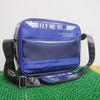 Best blue Gloss PU Leather Sports bag Simple travel duffle bag for promotional