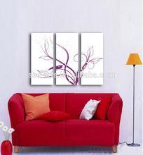 Modern Impression Blooming Flower Artwork On Canvas