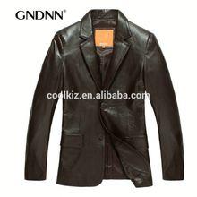 2014 Autumn new sheep skin suit leather jacket genuine leather coat leather sleeve and hem