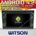 Witson ANDROID 4.2 rádio GPS OPEL ANTARA / CORSA / MERIVA 2006 - 2011 com A9 CHIPSET 1080 P 8 G ROM WIFI 3 G