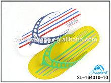 2014 new plaid nude men beach slipper in eva