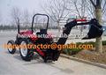 Mini retroexcavadora tractor para, ajuste con toma de fuerza