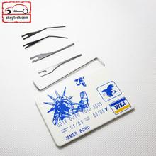 James Bond Locksmith Tools Padlock Credit Card Pickset Lock Pick Set
