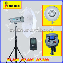 600w high quality professional studio photo flashing light with LCD screen