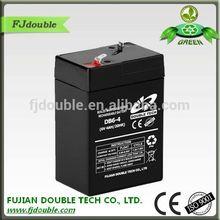 china supplier maintenance free ups vrla 6v 4ah lead battery