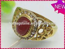 Modern personalized design jewelry shiny cool cz titanium mens rings stone