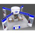 cabina de exhibición personalizada para demostración comercial 20x20