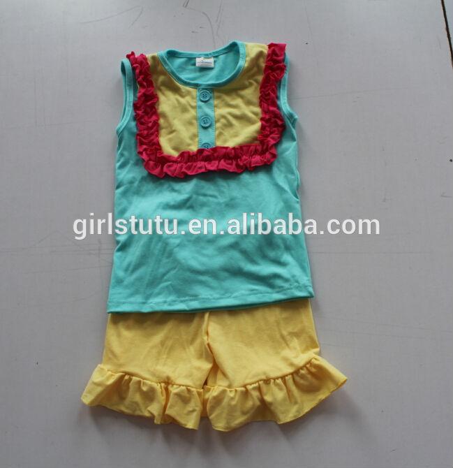 Yiwu Yawoo Garments Factory High Quality Cheap Newborn Baby Girl Summer Cotton Boutique Clothing ...