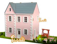 DIY Miniature Wooden Dollhouse Mini doll house pink WH005