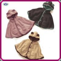 Wholesale kids cloak party winter warm pink cute animal kids baby cloak