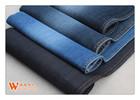 warp slub effect cotton/poly elastane girls jeans denim fabric stretch waterproof breathable fabric with super spandex B2404