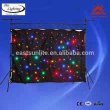 EastSun amazing flexible led curtain display xxx videos/programmable led curtain display/outdoor led curtain