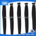 Fábrica 6a doble dibujado remy humanos u punta/punta plana/i punta de las extensiones de cabello