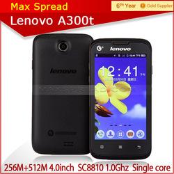 original 4.0inch lenovo a300t single core multilanguage mobie phone original