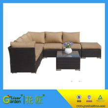 garden rattan furniture outdoor pe wicker conversation sofa set