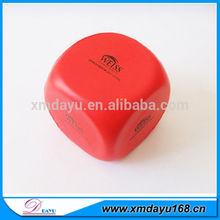 Custom Foam Dice Shaped stress ball