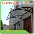 suporte de plástico de policarbonato toldo para varanda