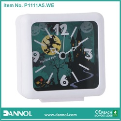 2014 New Quartz Plastic Table Alarm Clock Halloween Gift