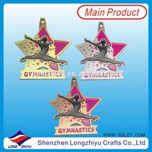 Beautiful pink Irish dancing prize, metal Medals,gymnastics medals