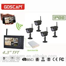 4CH digital wireless camera & DVR system wireless ip camera nvr